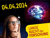 Banner für die Lange Nacht der Forschung am 04.04.2014
