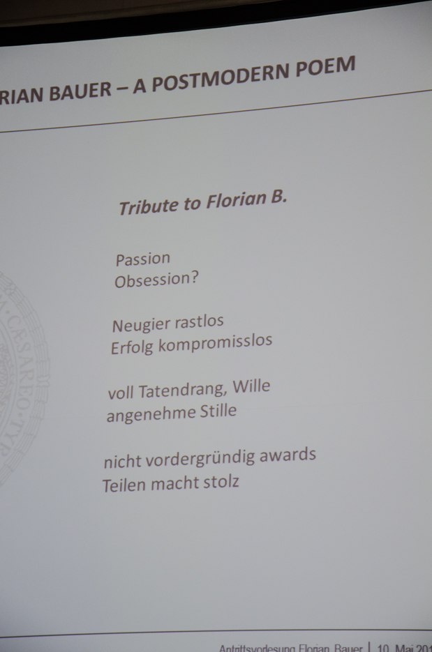 A tribute to Florian Bauer (1/3)