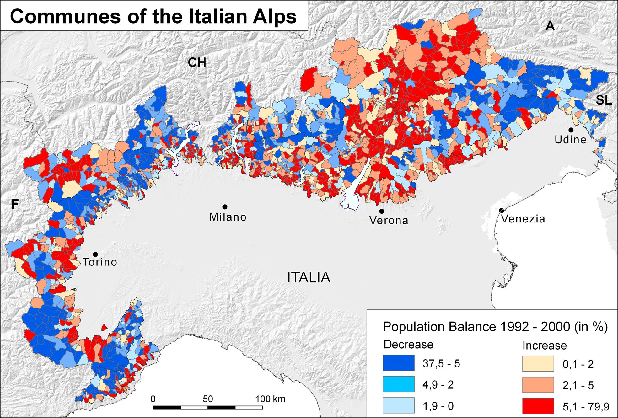 Ethno-Linguistic Minorities in the Italian Alps - maps, Institut für ...