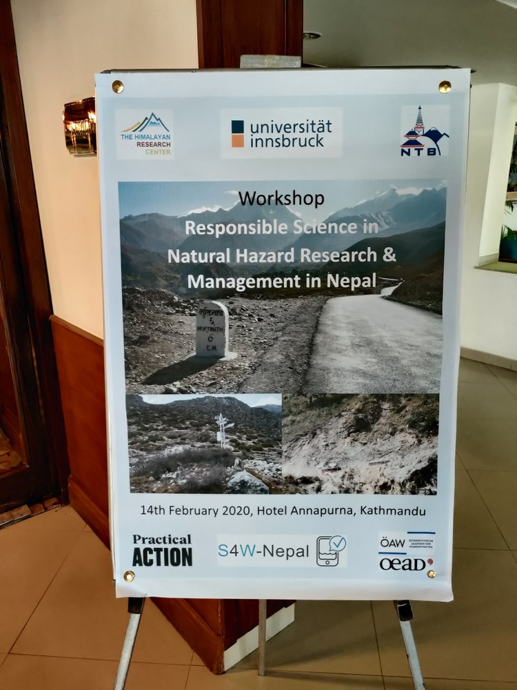 "Workshop ""Responsible Science in Natural Hazard Research & Management in Nepal"", February 2020, Kathmandu"