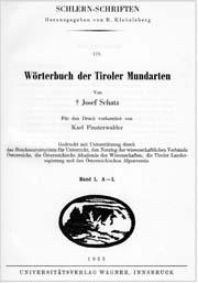 Wörterbuch der Tiroler Mundarten klein