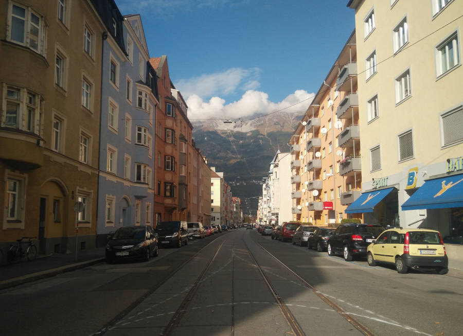 Mit dem Radl durch Pradl: Caritas Tirol