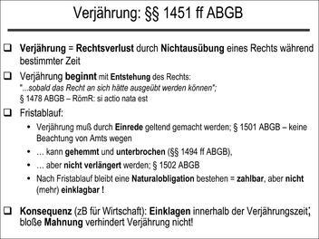 verjhrung 1451 ff abgb - Hemmung Der Verjahrung Beispiel