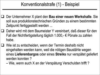 Konventionalstrafe (1)