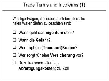 Trade Terms und Incoterms (1)