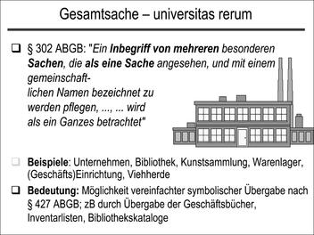 Gesamtsache – universitas rerum