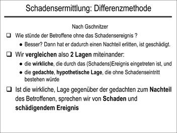 Schadensermittlung: Differenzmethode