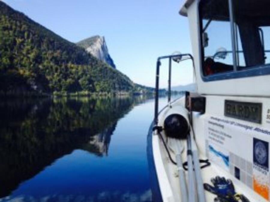 The Institute of Limnology's Research Ship on the Mondsee