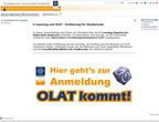 Screenshot vom Lernmanagementsystem OLAT (Online Learning and Training)