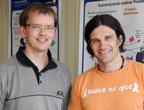 Foto: Die ERC-Preisträger Roland Wester (li.) und Hanns-Christoph Nägerl (re.)