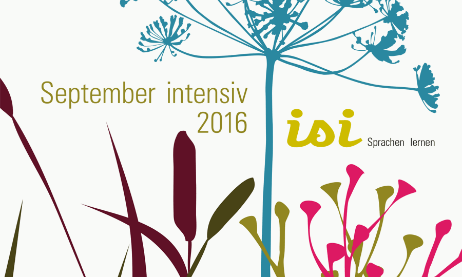 isi Sprachen lernen: September intensiv 2016