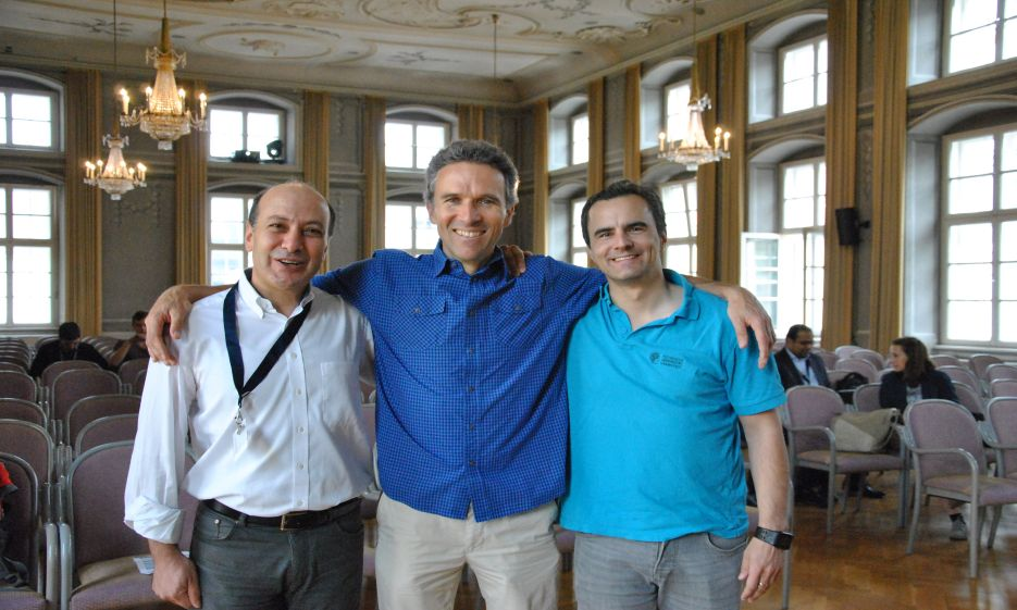 (l.t.r.) Tamim Asfour (KIT), Justus Piater (University of Innsbruck), Jan Peters (Technical University of Darmstadt)