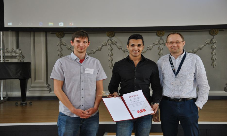 Florian Dannereder wins the Best Student Paper Award sponsored by the  ABB Group