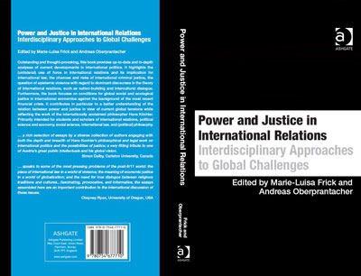 "Umschlag des Buches ""Power and Justice in International Relations"""