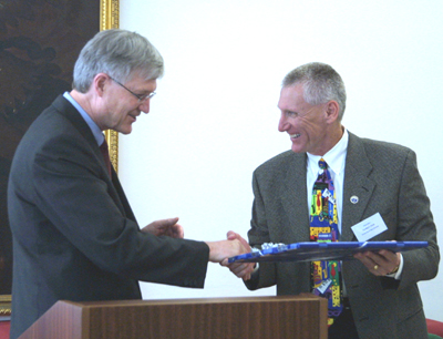 v.l. Rektor Manfried Gantner mit Chancellor Timothy Ryan, University of New Orleans