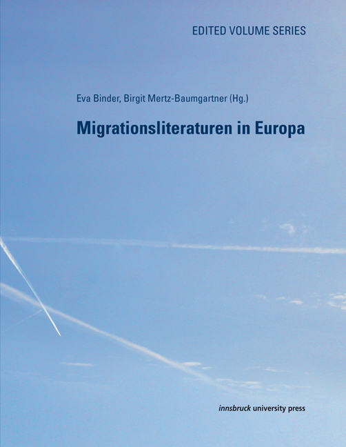 "Buchcover von ""Migrationsliteraturen in Europa"""