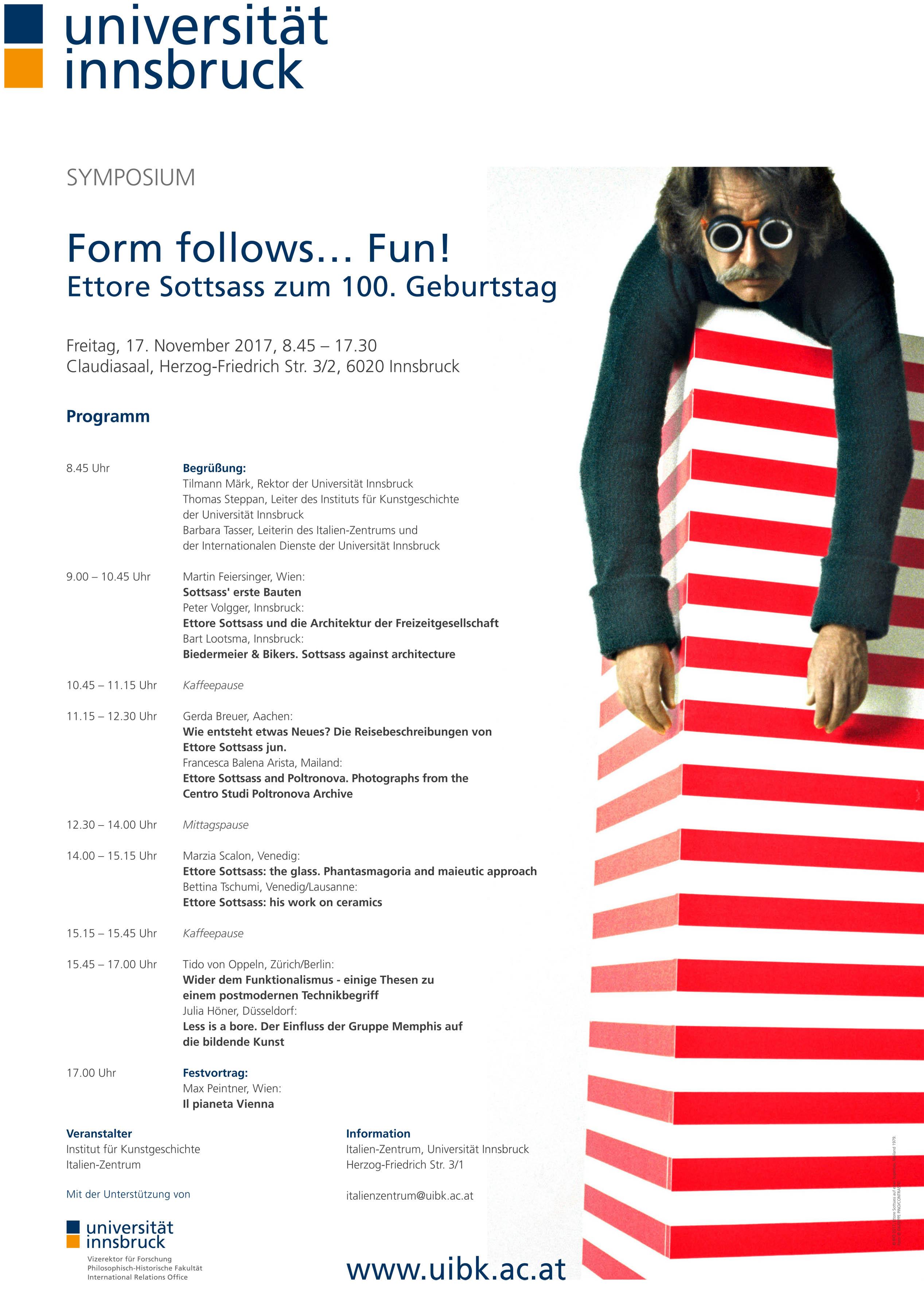 Sottsass Symposium Plakat