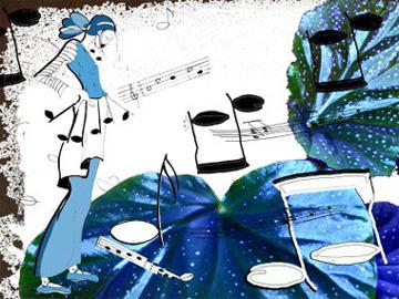 Musik nach Bildern, Kollage von Ortrun Gröblinger