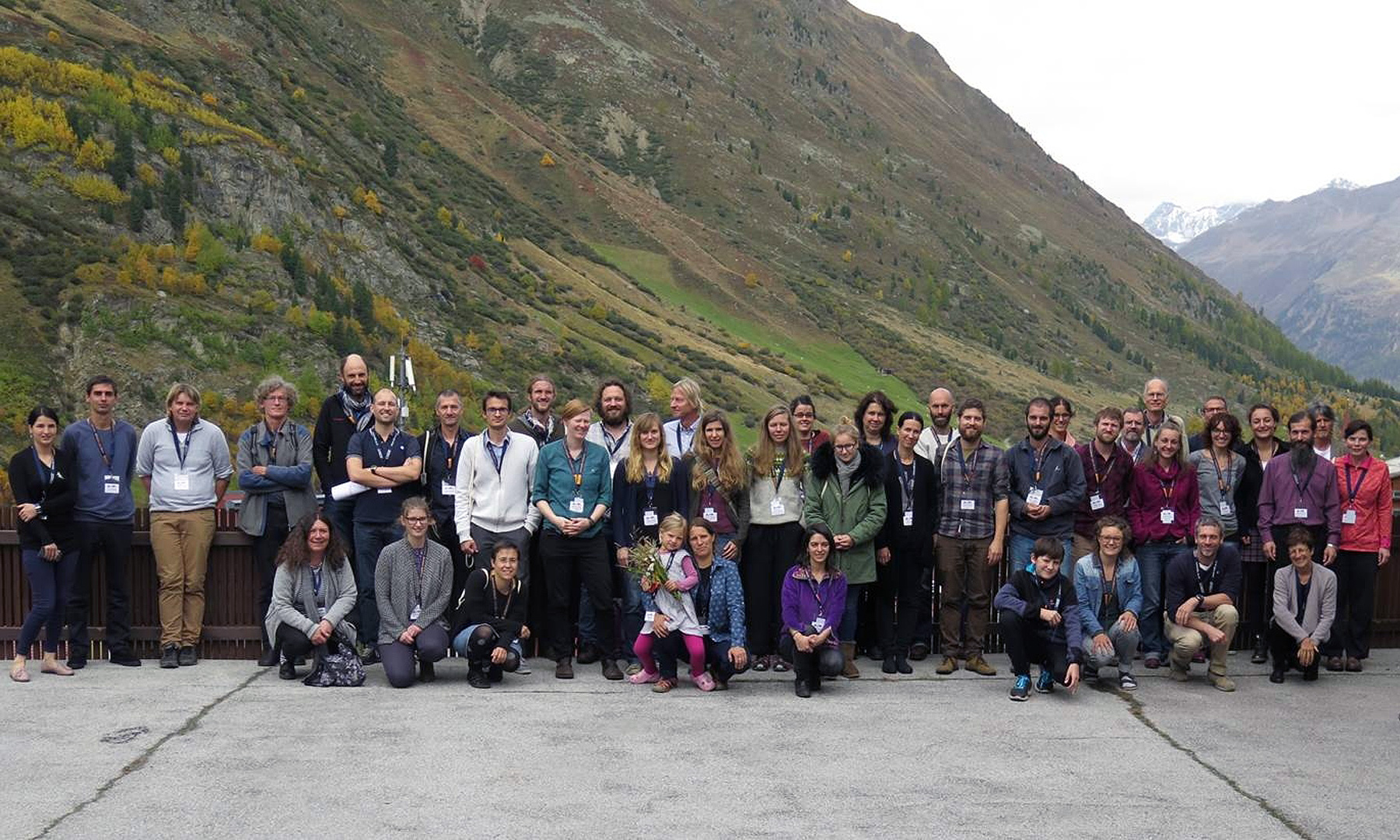 "Gruppenfoto vom Workshop ""Long-Term Research in Mountain Areas"""