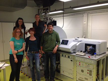 group picture with the FT-ICR instrument, 2015