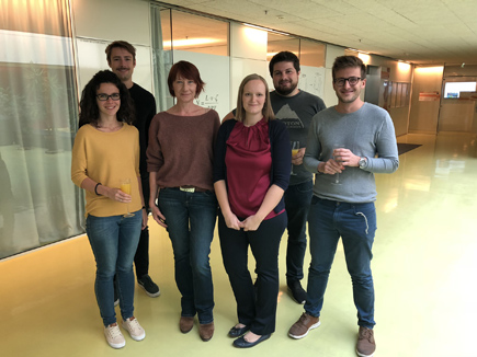 group picture after Heidi's PhD defense, September 2018