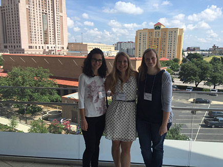 Jovana, Eva, and Heidi at the 64th ASMS Conference on Mass Spectrometry and Allied Topics in San Antonio, TX, USA, June 5 - June 9, 2016 (Wednesday)