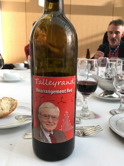 'Rearrangement Red' served in honor of Fred W. McLafferty at the 14th Uppsala Conference on Electron Capture (ECD) and Transfer (ETD) Dissociation, and related radical directed dissociation techniques (UPPCON 2017), at Cornell University (the birthplace of ECD) in Ithaca, NY, USA, July 12-15, 2017