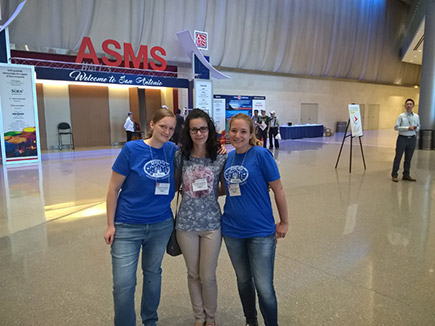 Heidi, Jovana, and Eva at the 64th ASMS Conference on Mass Spectrometry and Allied Topics in San Antonio, TX, USA, June 5 - June 9, 2016 (Sunday)