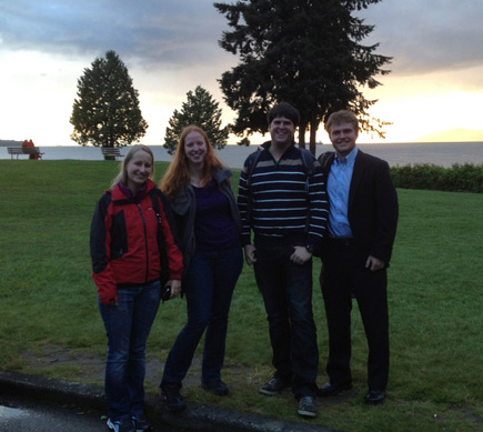 Monika, Barbara, Moritz, and Owen at the 60th ASMS Conference on Mass Spectrometry and Allied Topics in Vancouver, Canada, May 20 - 24, 2012