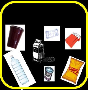 Piktogramm Kunststoff und Verpackungen