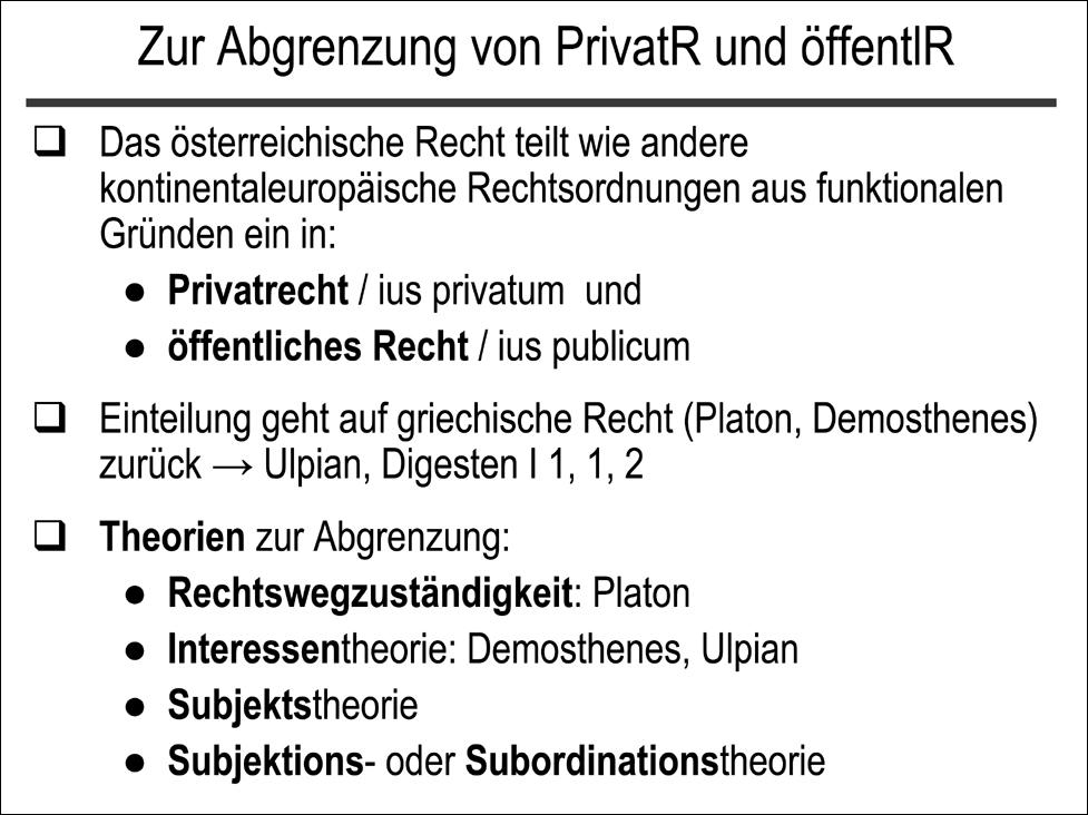zivilrechtonline - Offentliches Recht Beispiele